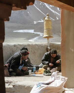Lunch at Driraphuk Gompa, Kaillash, Tibet
