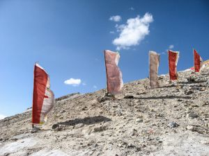 Flags at Tirthapuri