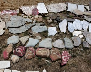 Sky Burial Ground Mani Stones